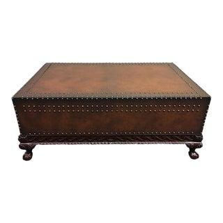 Ralph Lauren Dalton Leather Cocktail Table