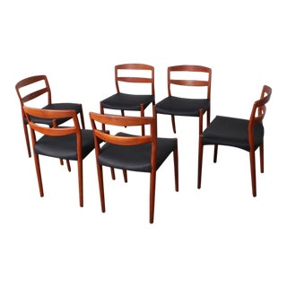 Six Dining Chairs by Ejner Larsen and Aksel Bender Madsen