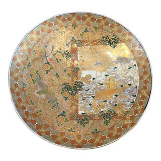 Massive Meiji Period Gilt and Enamel Decorated Imari Charger