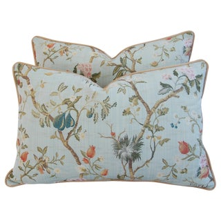Scalamandre Silk Lampas Pillows - A Pair