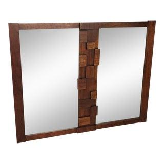 """Lane Brutalist """"Mosaic"""" Mirror"""