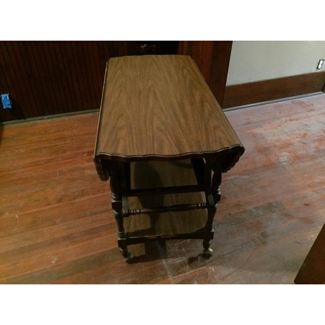 Traditional Serving Cart Table - Image 2 of 9