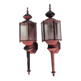 Outdoor Gothic 6-Sided Lanterns - A Pair