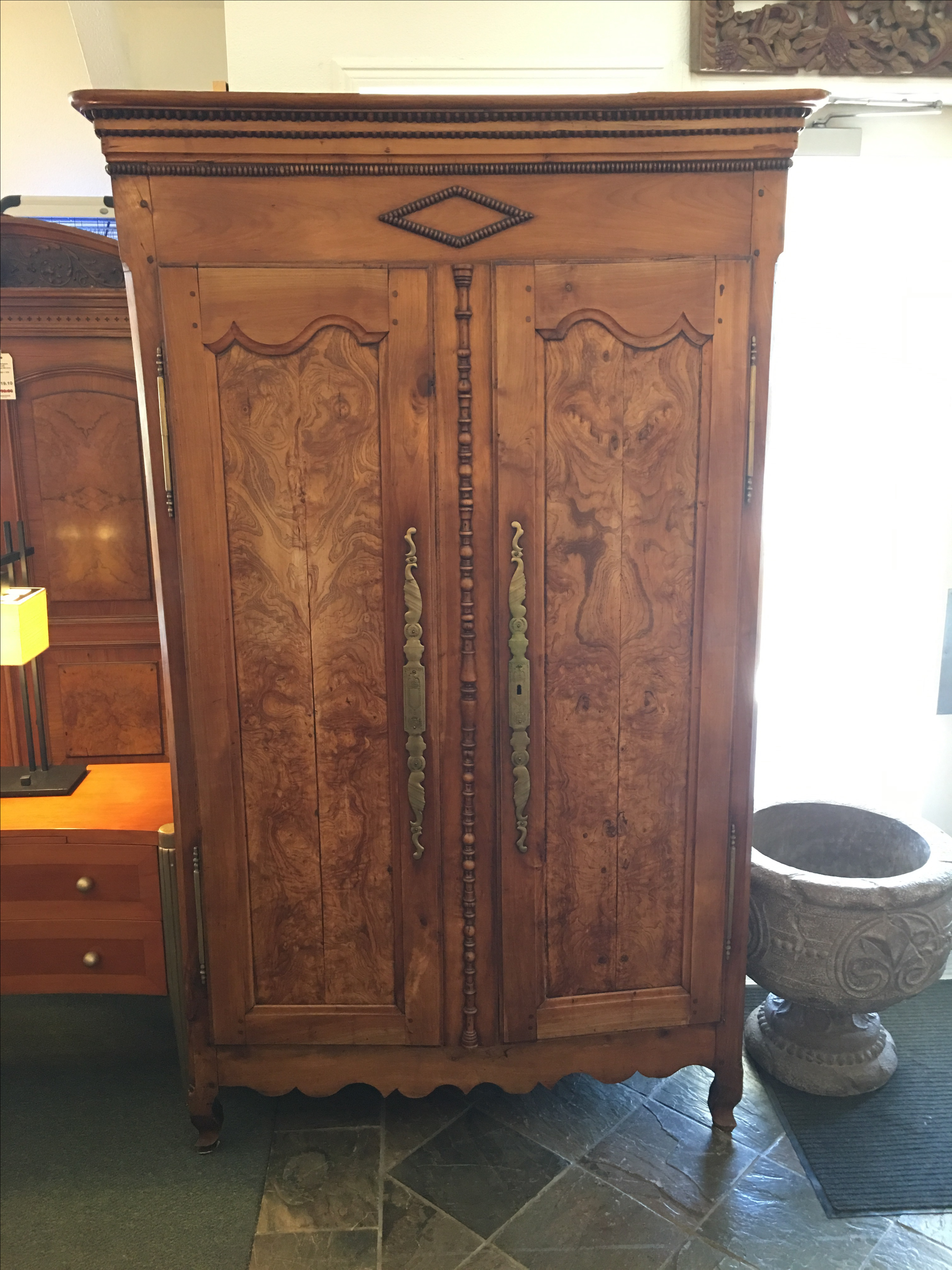 Antique Walnut Armoire With Television Mount  Chairish -> Armoire De 📺