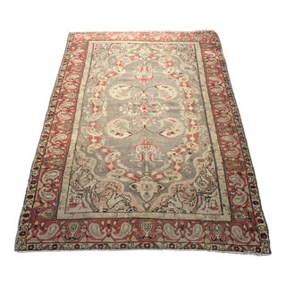 "Bellwether Rugs Antique Turkish Oushak Rug - 4'3""x6'2"""