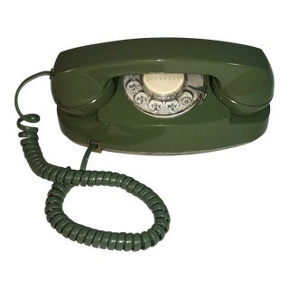 Vintage Pea Green Rotary Princess Phone
