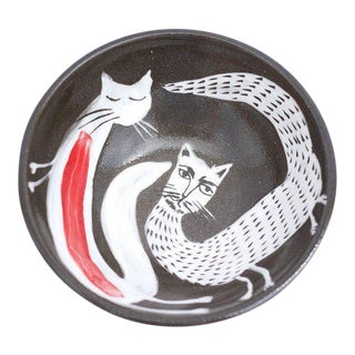 Black & Red Double Cat Bowl
