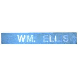 Vintage Blue Metal Sign