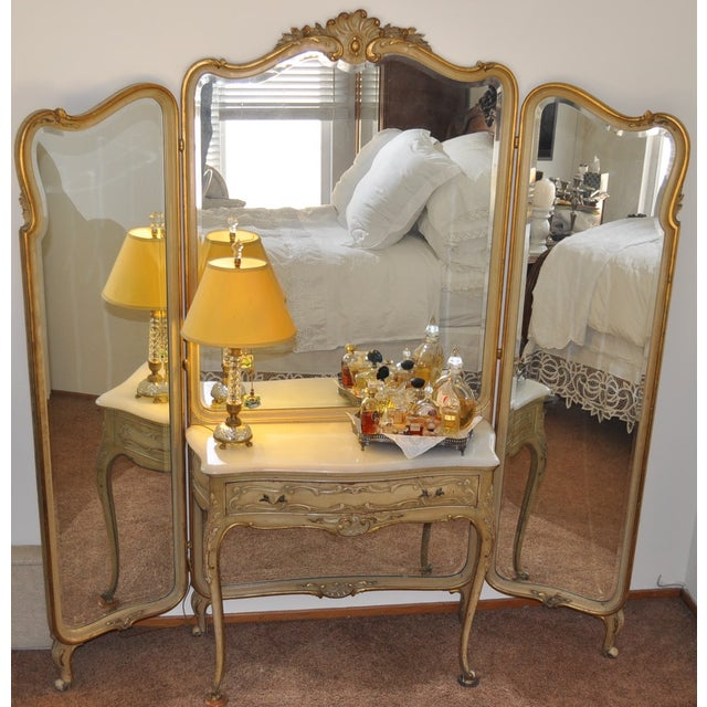 Vintage 1920s French Louis XV Style Vanity - Image 3 of 11