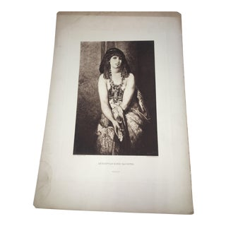 1880 Hans Makart Pinx Egyptian King's Daughter Lithograph