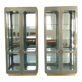 Mastercraft Vitrine Display Cabinets - Pair