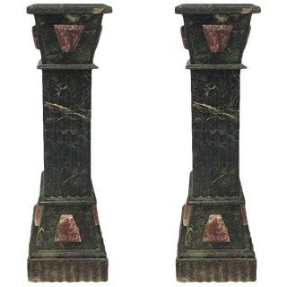 Marble Pedestals - A Pair