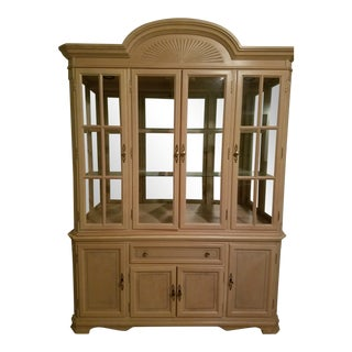Antique Maple China Cabinet