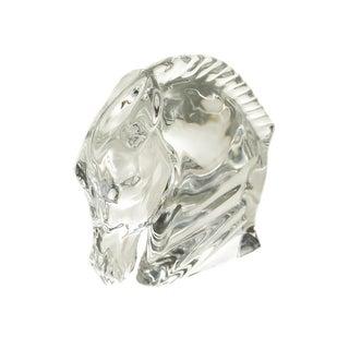 Baccarat France Horse Head Crystal Sculpture