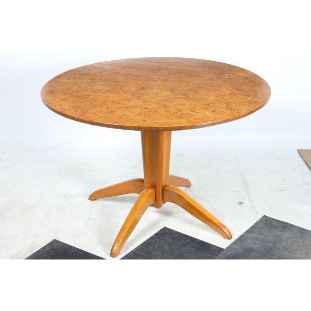 Burl Wood Tilt Top Table - Image 2 of 5