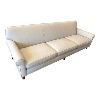 Modern Custom Ivory Sofa