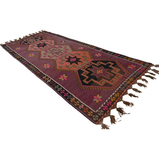 Hand-Woven Turkish Runner - 5′6″ × 13′2″ - Image 1 of 10