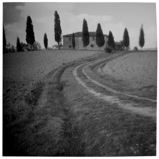 """Tuscan Villa"" Black & White Vintage Film Camera Photograph"