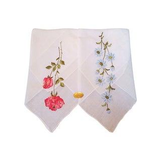 Swiss Embroidered Handkerchiefs - A Pair