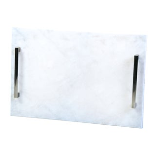 Large Solid White Marble Tray