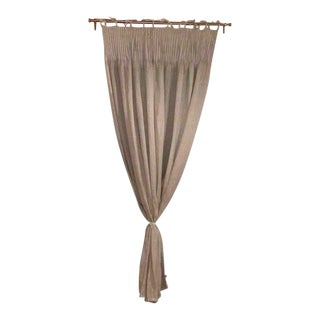Anthropologie Pinch Pleat Curtains with Bronze Constance Curtain Rod