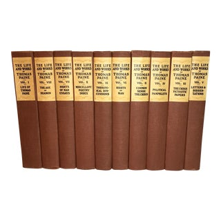 1925 The Life and Works of Thomas Paine - Set of 10