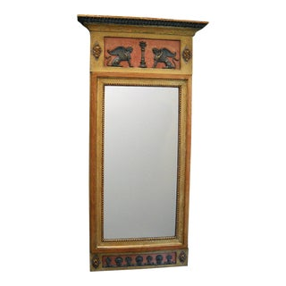 Neoclassical Swedish Mirror in Pompeii Red (#22-52)