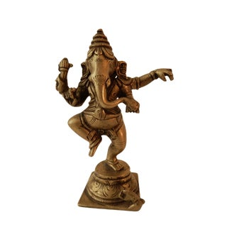 Nepalese Bronze Lord Ganesh Sculpture