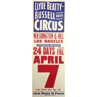 Original 1944 Clyde Beatty Circus Poster