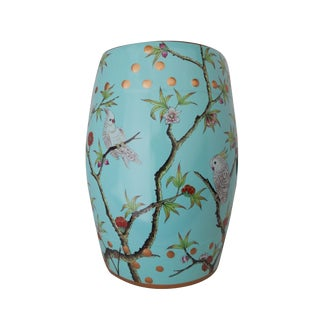 Turquoise Garden Stool /Table