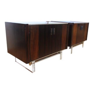 Stylish Midcentury Rosewood and Lucite End Tables, Side Tables