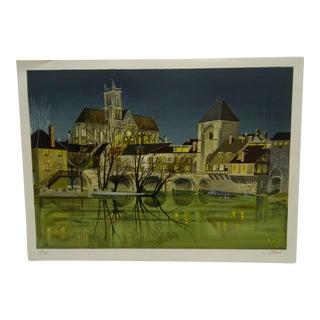 """Jean Luc Lecoindre """"Paris Bridge"""" Limited Edition Print"""
