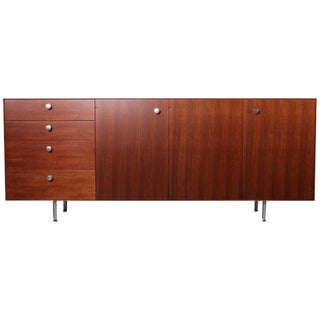 Rosewood and Walnut Thin Edge Cabinet by George Nelson for Herman Miller
