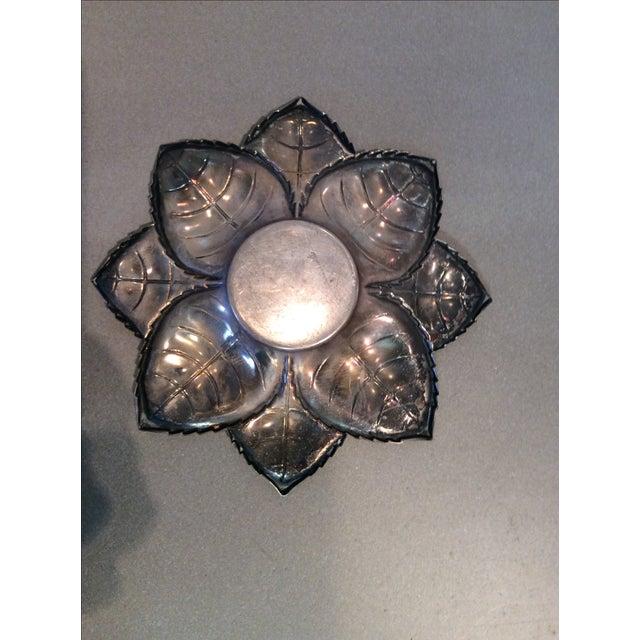 Image of Metal Floral Candle Holder