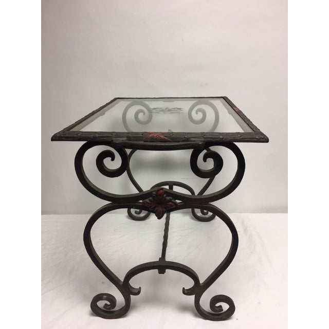 Art Deco Iron Side Table - Image 2 of 11