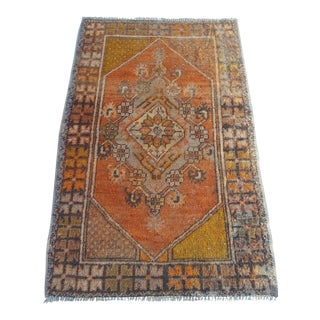 Vintage Turkish Oushak Rug - 2′8″ × 4′2″
