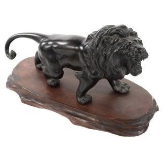 Japanese Meiji-Period Bronze Lion Sculpture