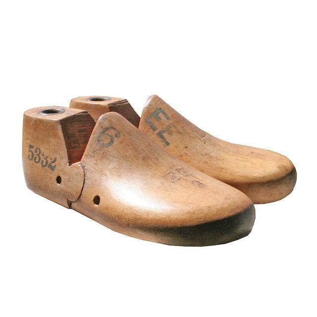 Image of Antique Wood Children's Shoe Forms - Pair