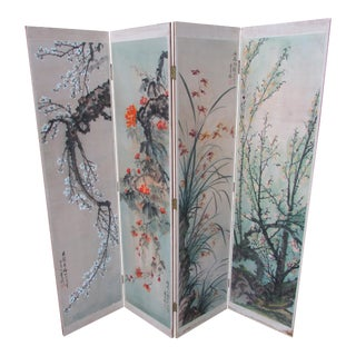 Antique Style Chinese Painting Folding Screen