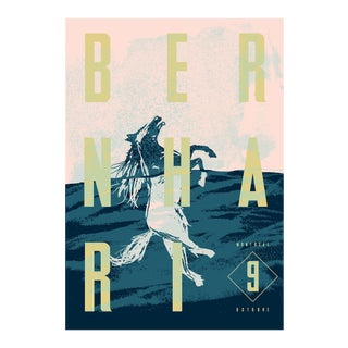 Bernhari Music Poster, Swimming Horse