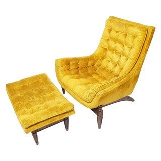 Mid-Century Adrian Pearsall Lounge Chair & Ottoman