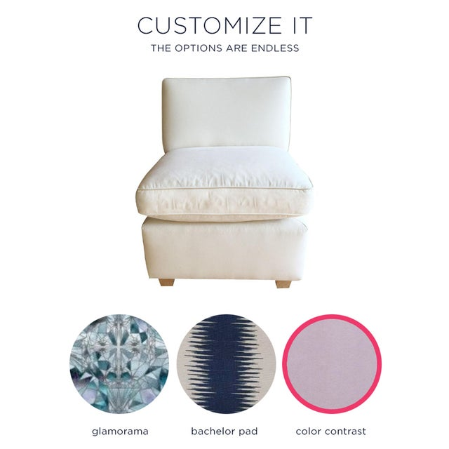 Slipper Chair + Custom Upholstery Service - Image 2 of 5