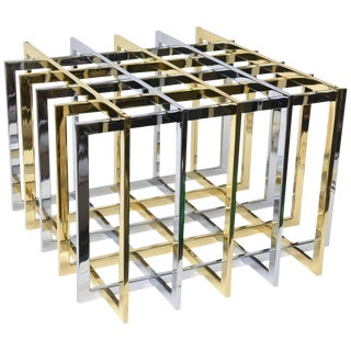 Pierre Cardin Sculptural Grid or Puzzle Side Table
