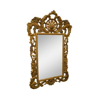 Rococo Style Large Giltwood Beveled Wall Mirror