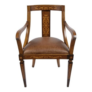 Antique English Regency Marquetry Armchair