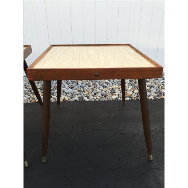Image of Mid-Century Stacking Side Tables - Pair