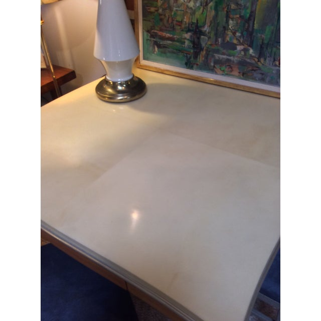 Lacquered Goatskin Game Table - Image 4 of 10
