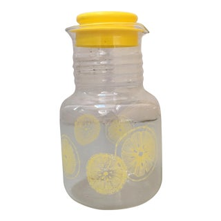 Lemon Patterned Juice Jar