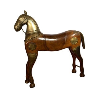 Wooden and Brass Horse