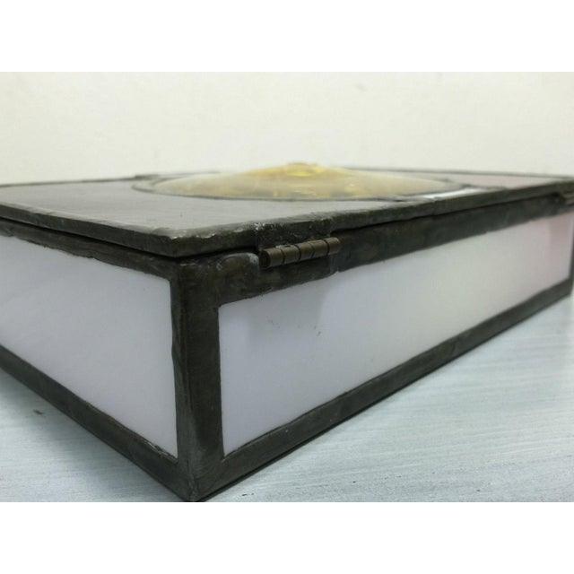 Vintage Mondrian Colored Blown Glass Box - Image 9 of 9